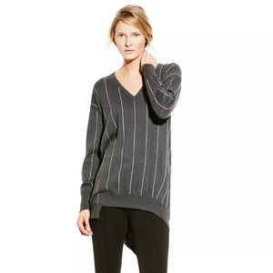 Vince Camuto Stripe Asymmetrical Oversized Sweater